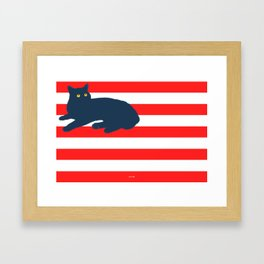 American Cat Framed Art Print