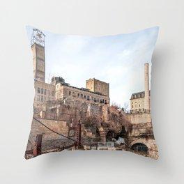 Minneapolis Minnesota at the Stone Arch Bridge-Architecture Photography Throw Pillow