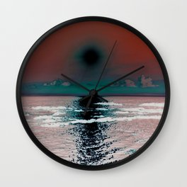 Red Sunrise Wall Clock