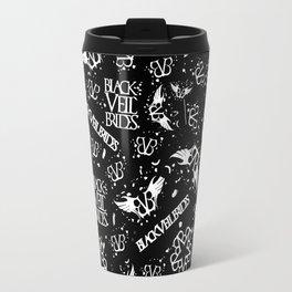 Black Veil Bries allover logo(s!). Travel Mug