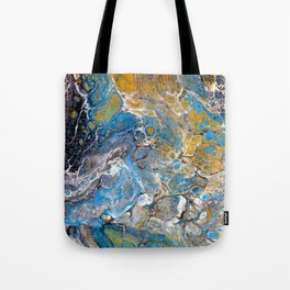 Mineralogy - Abstract Flow Acrylic Tote Bag