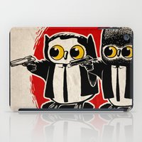 pulp fiction iPad Cases featuring Owls Pulp Fiction by Lime