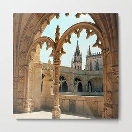 MOSTEIRO DOS JERONIMOS, Lisbon - Portugal.  Analog 6x6 Kodak Ektar 100 (RR158) Metal Print
