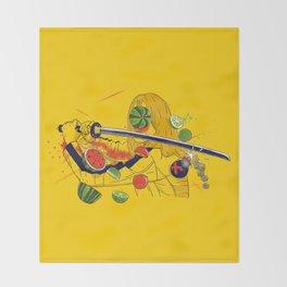 Kill Fruit Throw Blanket