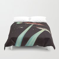 aliens Duvet Covers featuring Aliens  by dreamshade