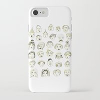 faces iPhone & iPod Cases featuring Faces by Wood + Ink