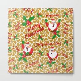 Joly Santa Metal Print