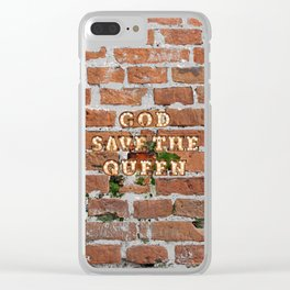 God save the Queen - Brick Clear iPhone Case