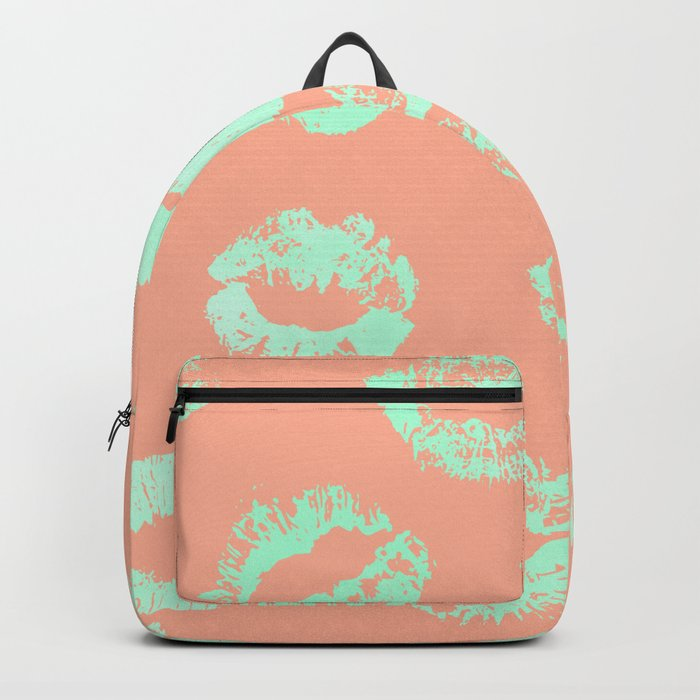 Sweet Life Lips Peach Coral + Mint Meringue Backpack