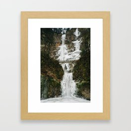 Frozen Falls Framed Art Print
