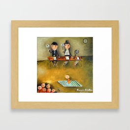 Creditworthiness Calculating Framed Art Print