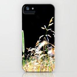 gold&black grass iPhone Case