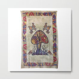 Twin Forest Mushroom Tapestry Metal Print