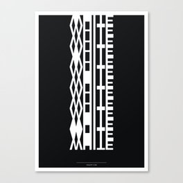 The DNA of colours - White Canvas Print