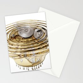 Liquefied clockwork Stationery Cards