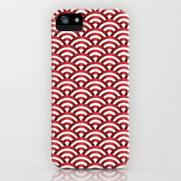 Metallic pattern of waves iPhone Case
