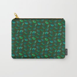 Green Leaf Motif Carry-All Pouch