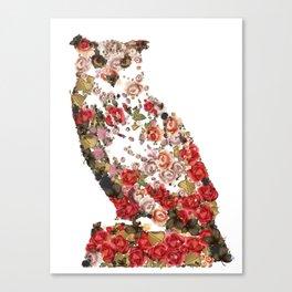 Portrait of the great vintage owl Canvas Print