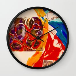 Look To The Hills Wall Clock