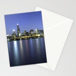 Chicago Skyline Dusk Panorama Stationery Cards