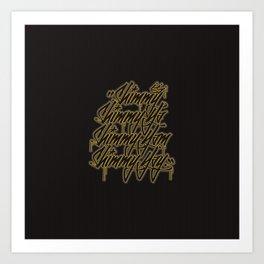 """Shimmy Shimmy Ya, Shimmy Yam, Shimmy Yay."" Art Print"