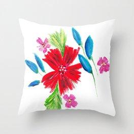 Vintage Floral Spray Throw Pillow