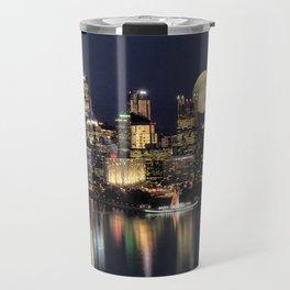 Moon Rise Over Pittsburgh Travel Mug