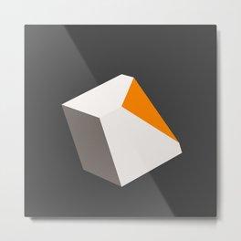 Broken Cube Metal Print