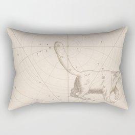 Johann Bayer - Uranometria / Measuring the Heavens (1661) - 01 Ursa Minor / Little Bear Rectangular Pillow