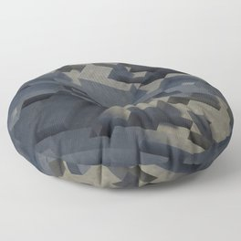 Abstract Concrete IV Floor Pillow