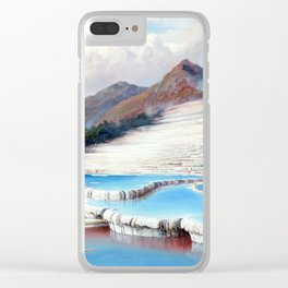 Charles Blomfield White Terraces, New Zealand Clear iPhone Case