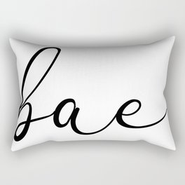 Bae Cool Cute Script Typography Love Heart Rectangular Pillow