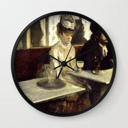 L'Absinthe - Edgar Degas Wall Clock