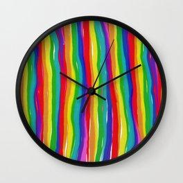 Painted Rainbows Wall Clock