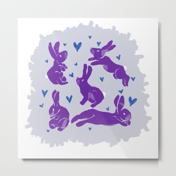 Bunny love - Purple Carrot edition Metal Print