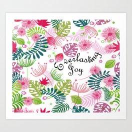 Everlasting Joy leaf pattern Art Print