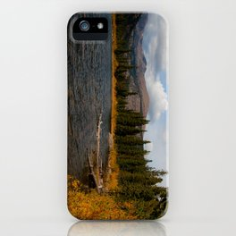 Mountain Lake in Autumn iPhone Case