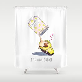 Avocado in a Sweet Avocuddle Shower Curtain