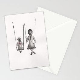 Mother&Daughter 3a Swings Stationery Cards