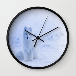 The Arctic Fox in Iceland Wall Clock