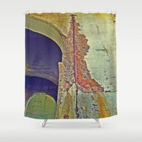 concrete Shower Curtains featuring Concrete by RDKL, Inc.
