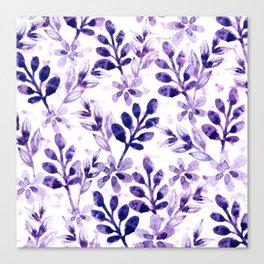 Watercolor Floral VIV Canvas Print