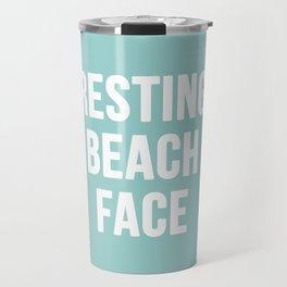 Resting Beach Face Travel Mug