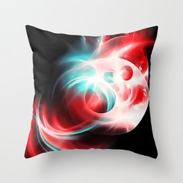 abstract fractals 1x1 reac2s Throw Pillow
