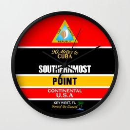 Southern Most Point, Key West, Florida/サザン・モスト・ポイント Wall Clock