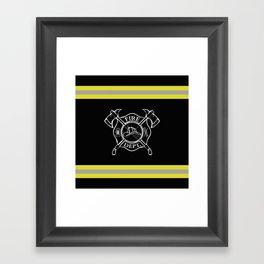 Firefighter Home Framed Art Print