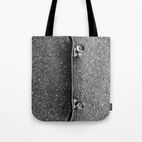 skateboard Tote Bags featuring Skateboard by short stories gallery