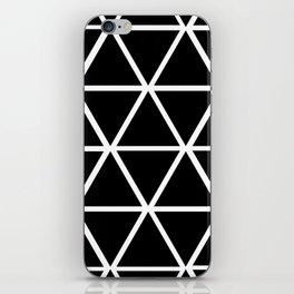 BLACK & WHITE TRIANGLES 2 iPhone Skin