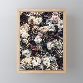 Flower Wall // Desaturated Vintage Floral Accent Background Jaw Dropping Decoration Framed Mini Art Print