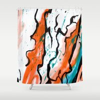 artsy Shower Curtains featuring Artsy Painter  by LA_Graffiti Decor